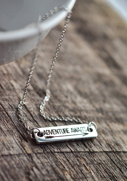 Adventure Awaits Bar Necklace - Livin' Freely  - 1