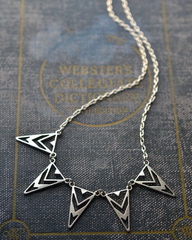 Triangle Statement Necklace - Livin' Freely  - 1