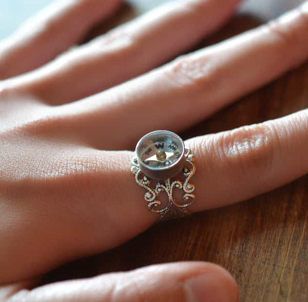 Working Compass Ring - Livin' Freely  - 1