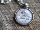 Enjoy The Journey Quote Necklace - Livin' Freely  - 3