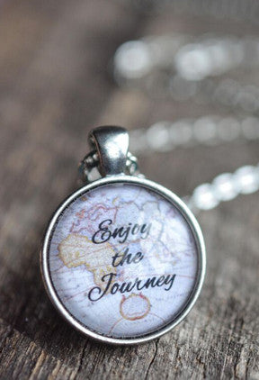 Enjoy The Journey Quote Necklace - Livin' Freely  - 1