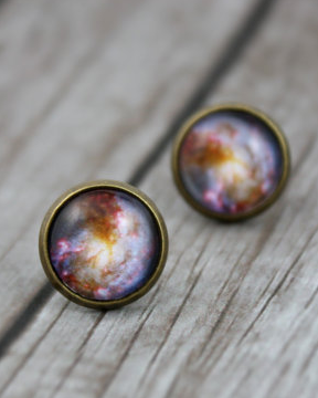 Bronze Galaxy Earrings - Livin' Freely  - 1