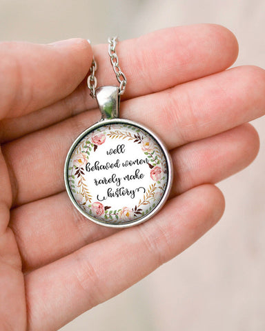 Women Make History Necklace