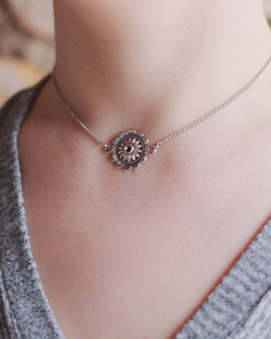 Dainty Flower Choker - Livin' Freely  - 2