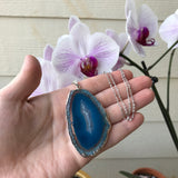 Silver Plated Agate Necklace