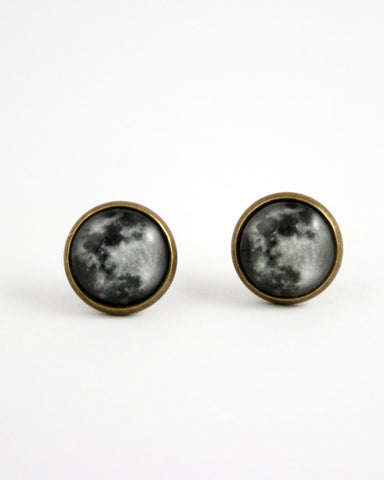 Bronze Full Moon Earrings - Livin' Freely  - 1