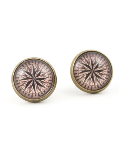Antique Compass Earrings - Livin' Freely  - 1