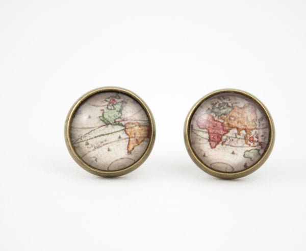 World Map Earrings - Livin' Freely  - 1