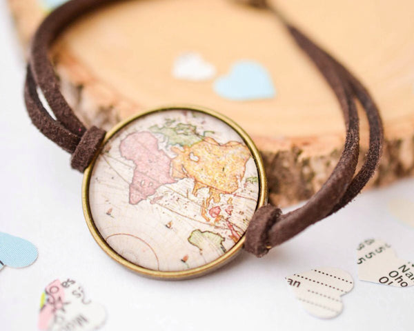 Bronze Antique Map Bracelet - Livin' Freely  - 1