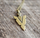 Dainty Arrowhead Necklace - Livin' Freely  - 2