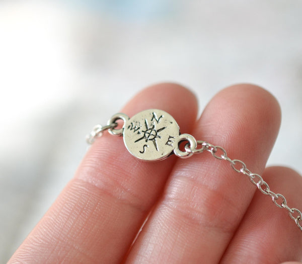 Dainty Compass Necklace - Livin' Freely  - 1
