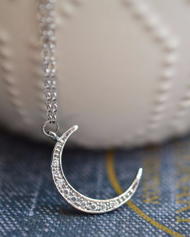 Dainty Moon Necklace - Livin' Freely  - 3