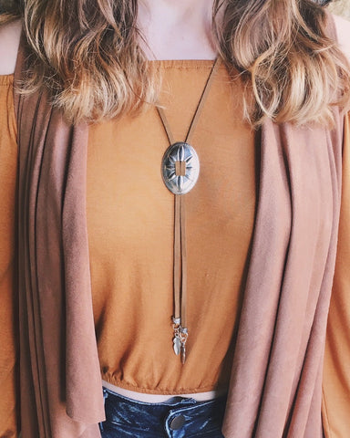 Bolo Concho Necklace - Livin' Freely  - 1