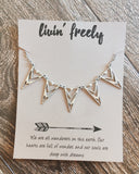 Triangle Statement Necklace - Livin' Freely  - 6