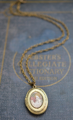 Dainty Map Locket - Livin' Freely  - 1