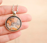 Antique Map Necklace - Livin' Freely  - 2