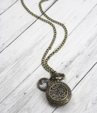 Moon And Stars Pocket Watch Necklace - Livin' Freely  - 2