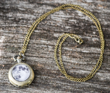 Full Moon Pocket Watch Necklace - Livin' Freely  - 2