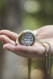 Not All Those Who Wander Are Lost Pocket Watch Necklace - Livin' Freely  - 1