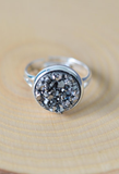 Silver Druzy Ring - Livin' Freely  - 1