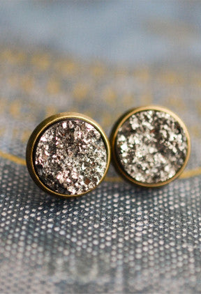 Druzy Earrings - Livin' Freely  - 1