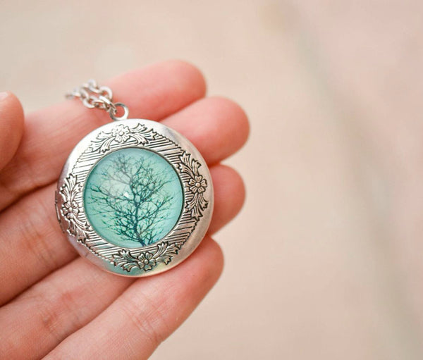 Tree Locket Necklace - Livin' Freely  - 1