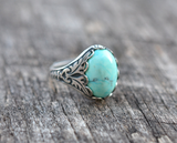 Silver Turquoise Ring - Livin' Freely  - 2