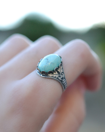 Silver Turquoise Ring - Livin' Freely  - 1