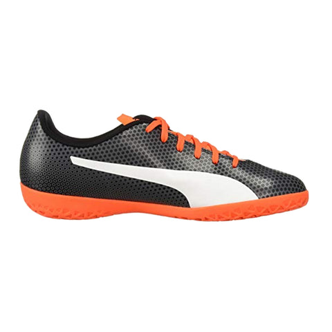 Puma spirit IT indoor soccer shoes- Black Orange - SoccerCart/SoccerMall