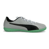 Puma spirit IT indoor soccer shoes- White Silver - SoccerCart/SoccerMall
