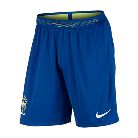 Nike Brasil  CBF 2016 Men Vapor Match Day Game Shorts - Blue Volt - SoccerCart/SoccerMall