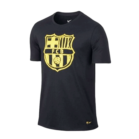 Nike Barcelona FC 2016-17 Men Crest T-Shirt - Black yellow - SoccerCart/SoccerMall
