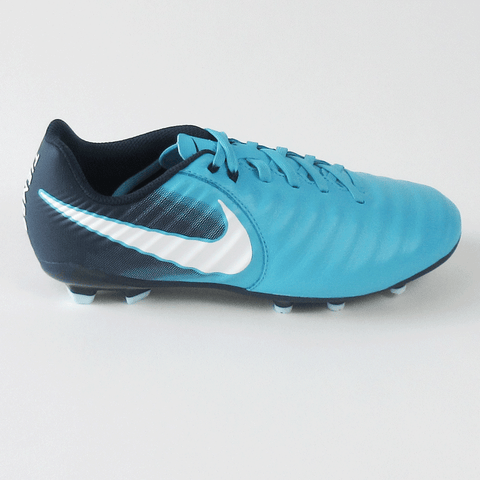 new styles 3ed60 0df13 Nike Junior Tiempo Ligera IV FG Firm Ground Soccer Cleats-Blue
