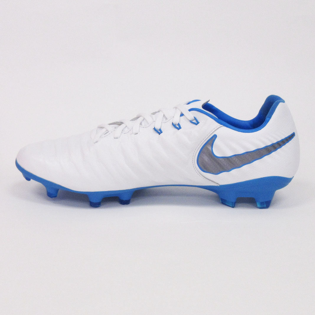 9b54a301d Nike Legend 7 Pro FG Men Soccer Cleats-White Blue - SoccerMall ...