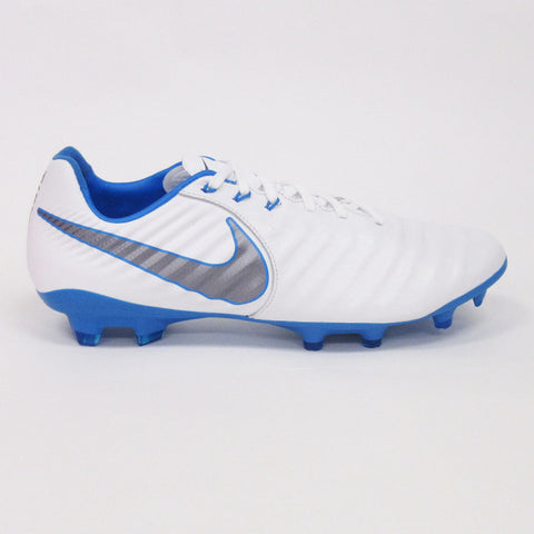 Nike Legend 7 Pro FG Men Soccer Cleats-White Blue - SoccerCart/SoccerMall