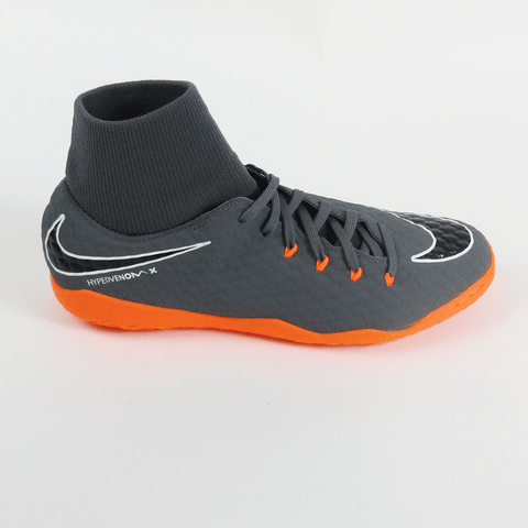 2985b94af Nike PhantomX 3 Academy DF IC Indoor Soccer Shoes-Grey Orange -  SoccerMall-beinsoccer