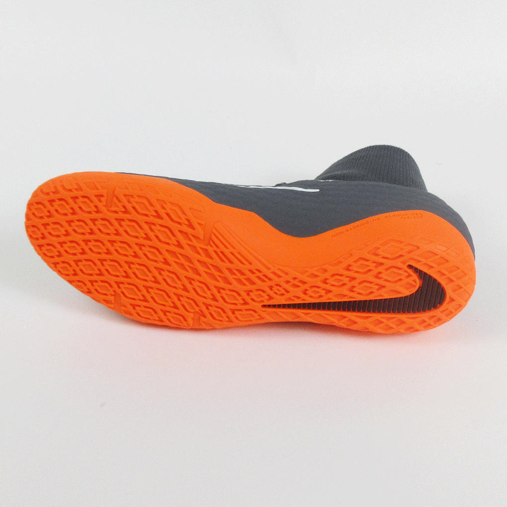 1b2da29da37 Nike PhantomX 3 Academy DF IC Indoor Soccer Shoes-Grey Orange ...