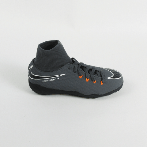 Nike Kids Phantom III Academy DF Dynamic TF Turf Soccer Shoes-Grey Orange