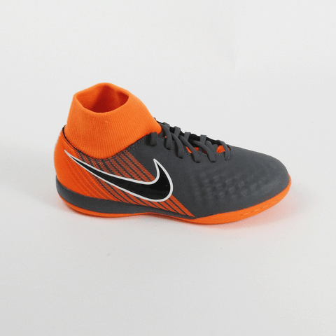 Nike Junior ObraX 2 Academy DF IC Indoor Soccer Shoes-Black Orange - SoccerCart/SoccerMall