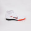 Nike Jr Superflyx 6 Academy GS Dynamic TF Turf Soccer Shoes-White Orange - SoccerCart/SoccerMall