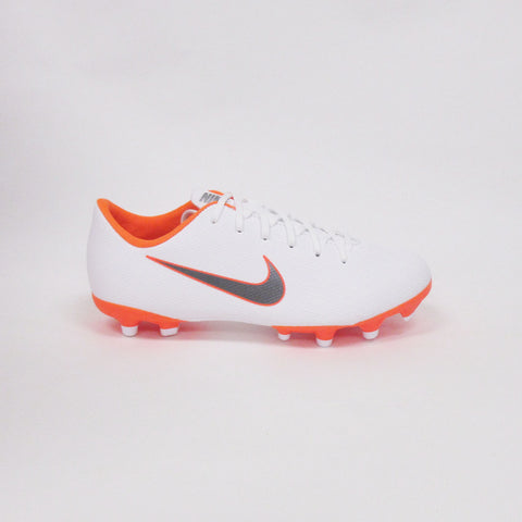 Nike Jr Vapor 12 Academy GS/MG Soccer Cleats-White Orange - SoccerCart/SoccerMall