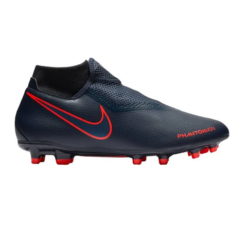 Nike Phantom Vision Academy DF FG Firm Ground Soccer Cleats-Obsidian/Red - SoccerCart/SoccerMall