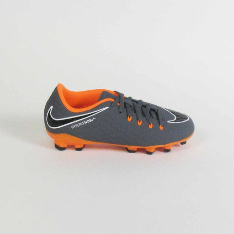 Nike Kids Phantom III Academy FG Soccer Cleats-Grey Orange outside right shoe