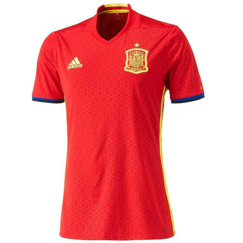Adidas Spain UEFA EURO 2016 Men Home Jersey-Red