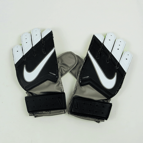 Nike Junior Goalkeeper Match Soccer Gloves - Grey Black Green