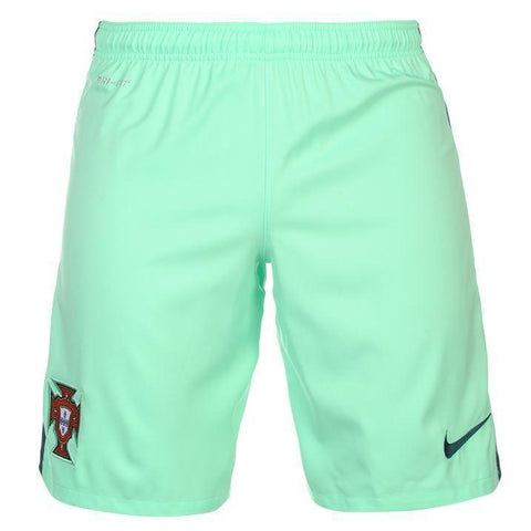 Nike Portugal FPF 2016 Men Away Soccer Shorts- Green - SoccerCart/SoccerMall