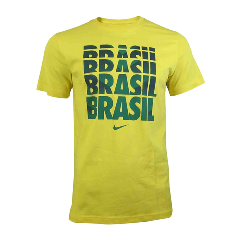 Nike Brazil Men's Core T-Shirt - Yellow - SoccerCart/SoccerMall