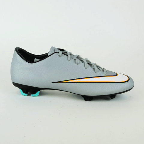 Nike Mercurial Victory V CR7 FG Men Soccer Cleats - Grey - SoccerCart/SoccerMall
