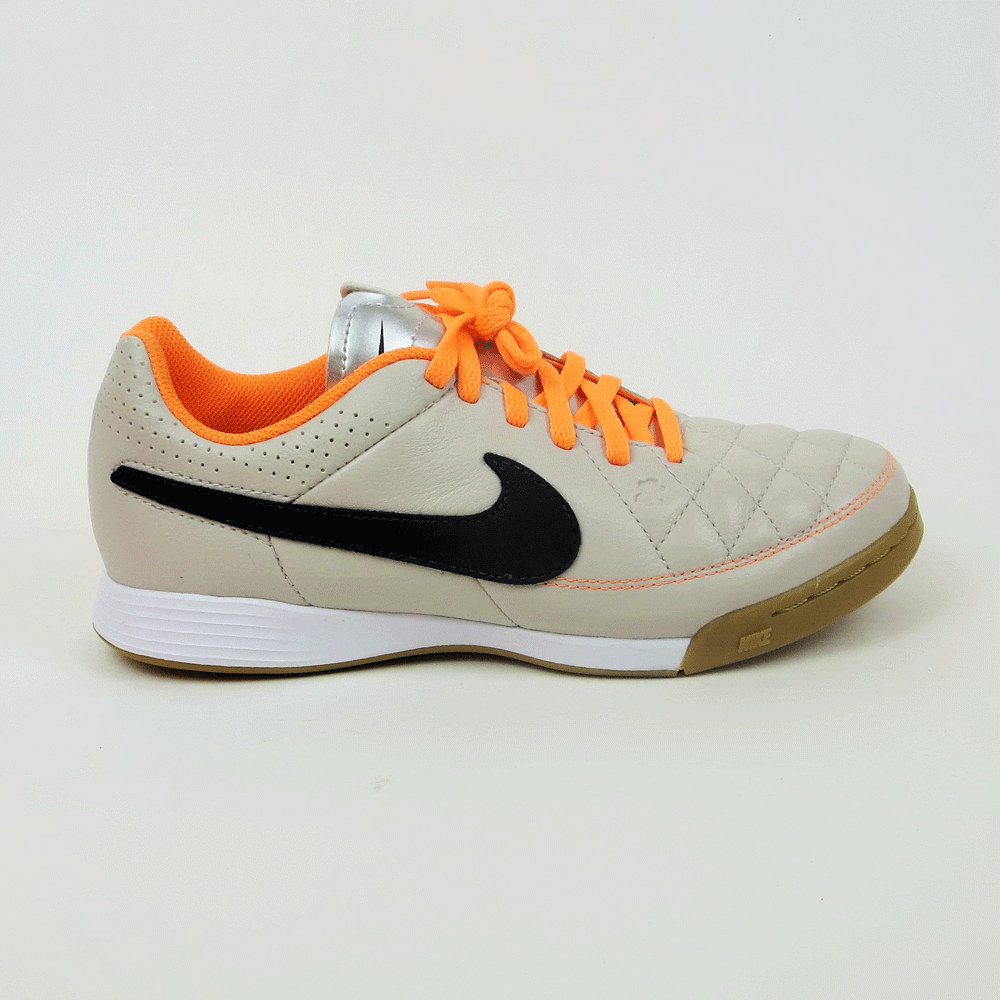 094fd26d341 NIke Junior Tiempo Genio Leather IC Indoor Soccer Shoes - Sand Orange ...