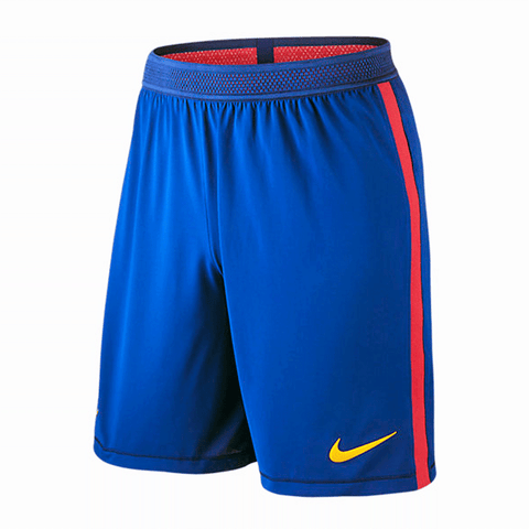 Nike Barcelona FC 2016-17 Men Vapor Match Day Game Soccer Short - Blue Red - SoccerCart/SoccerMall